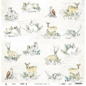 "Double-sided scrapbook paper 12""x12"" - Paper The Four Seasons - Winter 06 P13-WIN-06"