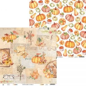 "Double-sided scrapbook paper 12""x12"" -Paper The Four Seasons - Autumn 02 P13-AUT-02"