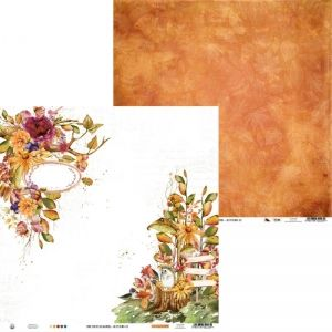 "Double-sided scrapbook paper 12""x12"" -Paper The Four Seasons - Autumn 03 P13-AUT-03"