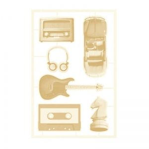 Light chipboard embelishments Free Spirit 02 P13-FRE-44