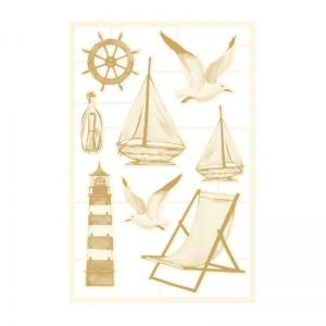 Light chipboard embelishments Beyond the sea 03, 8pcs P13-SEA-45