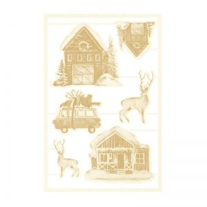 Light chipboard embelishments - The Four Seasons - Winter 04, 6pcs P13-WIN-46