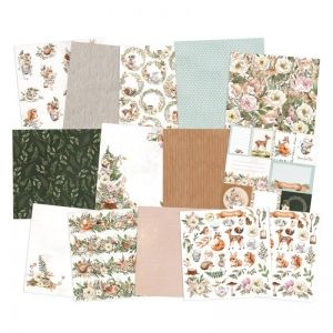 "Paper Pad 12""x12"" - Forest tea party, 12x12"" P13-FOR-08"