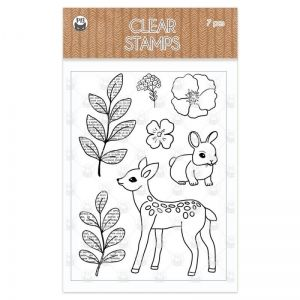 Clear stamp set Forest tea party 02, 7 pcs P13-FOR-31