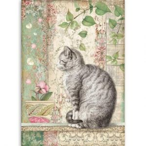 Decoupage Rice Paper A4 - Cat DFSA4511