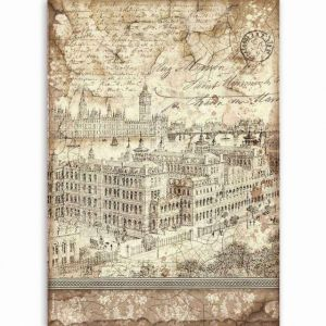 Decoupage Rice Paper A4 - London DFSA4523