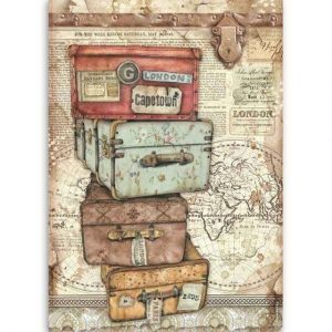Decoupage Rice Paper A4 - luggage DFSA4520