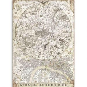 Decoupage Rice Paper A4 - London guide DFSA4522
