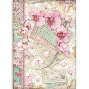 Decoupage Rice Paper A4 - Pink orchid DFSA4512