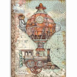 Decoupage Rice Paper A4 - Vintage travel DFSA4517