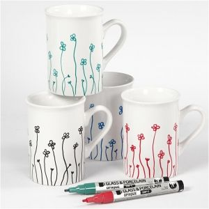 Glass-Porcelain Pens, 4 colours - C31336