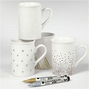 Glass-Porcelain Pens, 4 colours - C31337