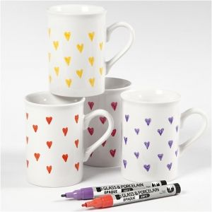 Glass-Porcelain Pens, 4 colours - C31335