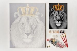 Painting by numbers 40x50cm -  Lion King MG2146e