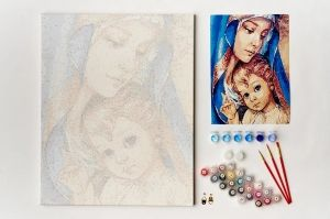 Painting by numbers 40x50cm - Holy Mother MG2148e