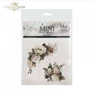 Decoupage Rice Paper set 6 sheets. 14.8х14.8сm - Flower compositions ITD-RSM027