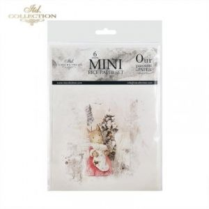 Decoupage Rice Paper set 6 sheets. 14.8х14.8сm - Mice ITD-RSM029
