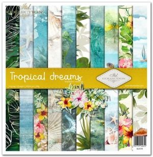 "Paper pad 12.2""x12.6"" - Tropical dreams ITD-SLS-010"