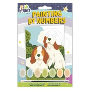 Mini Paint By Numbers Kit - Craft Planet - Dogs CPT-658700