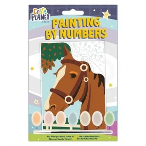 Mini Paint By Numbers Kit - Craft Planet - Horse CPT-658703