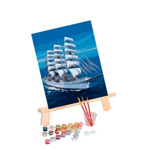 Painting by numbers 40x50cm - Snow-white Sailboat MG3240e