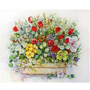 Painting by numbers 40x50cm - Bouquet with Red Tulips MG2183e