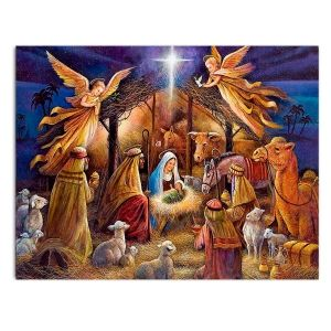 Painting by numbers 40x50cm - Nativity Scene MG2154e
