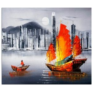 Painting by numbers 40x50cm - Hong Kong by Night MG2164e