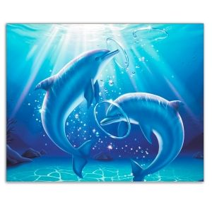 Diamond painting 40x50cm - Playing Dolphins LG223e