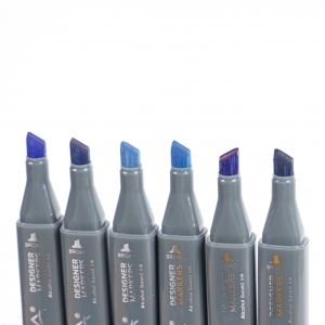 Sketch Markers 6pcs -  Blues NOV002