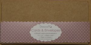 Mini Cards & Envelopes 20 pcs - Craft DCCE029