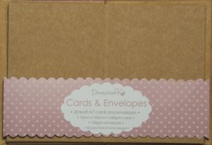 Mini Cards & Envelopes A7 - 20 pcs - Craft DCCE030
