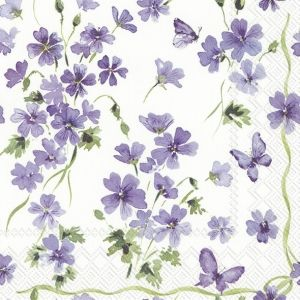 Decoupage napkins 33x33cm, 20 pcs. - Purple Spring L899000