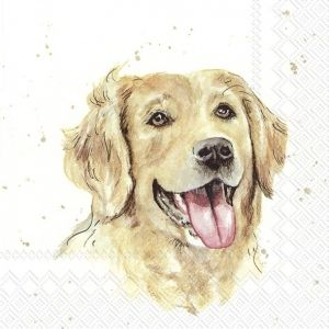 Decoupage napkins 33x33cm, 20 pcs. - Farmfriends Dog L860000