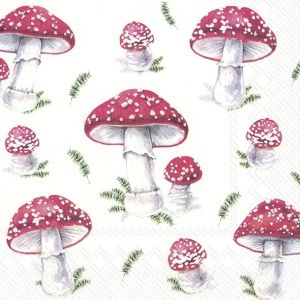 Decoupage napkins 33x33cm, 20 pcs. - Fairy Tale Mushrooms L877700