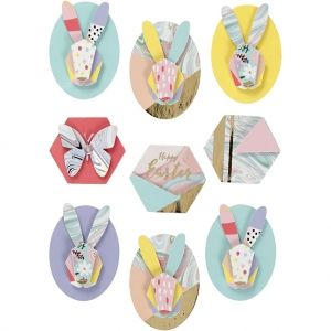 3D Stickers, Rabbits, 9 pc. C27092