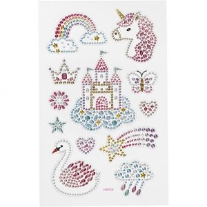 Diamond Stickers, Unicorn World, 15x16.5 cm. C284032