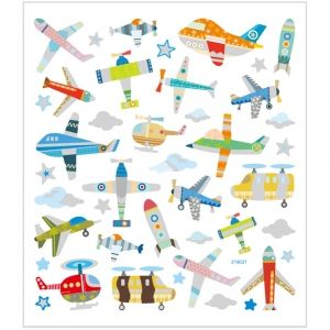 Stickers, Air Planes And Helicopters, 15x16.5 cm, C29085