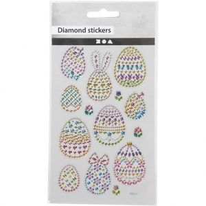 Diamond Stickers, Easter Eggs, 15x16.5 cm. C284036