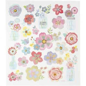 Stickers, Spring Flowers, 15x16.5 cm, C27193