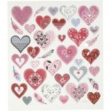 Stickers, Hearts, 15x16.5 cm - C27191-1