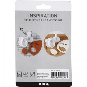 Cookie Cutters with Stamp 4pcs. - Star C782877