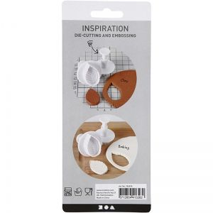 Cookie Cutters with Stamp 3 pcs. - Leaf C782878