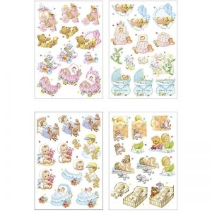 3D stickers, Baby, 4 pc. A4 - C28679