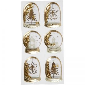 3D Shaker Stickers, Angel, Tree And Houses 6 pc. - C28459
