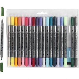 Textile markers, 20 pcs - astel Colours C34833