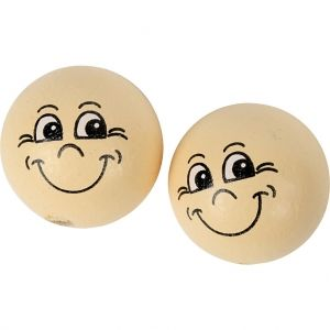 Heads, 22 mm, Light Beige, 10 pc - C57098