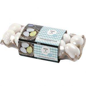 Plastic eggs, Embossed Pattern, 6cm, set 12 pc. - C51026