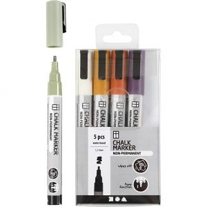 Chalk Markers, Mute Colours, 5 pc C37386