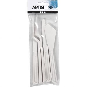 Palette Knives, L 17-20 cm, W 13-33 mm, 5 pc - C95222